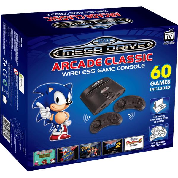 Seag Mega Drive Arcade Classic Wireless Games Zavvi