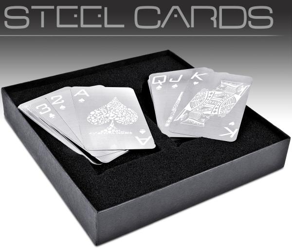 Nevada Stainless Steel Playing Cards IWOOT