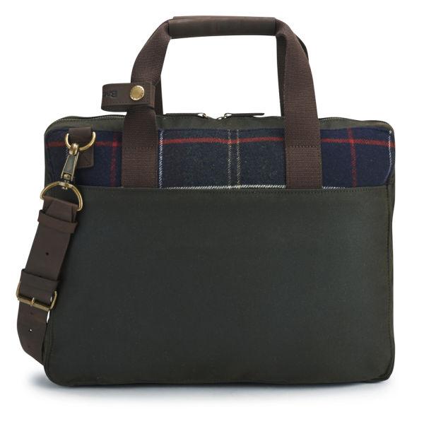 Barbour Tartan Slim Laptop Bag  Classic