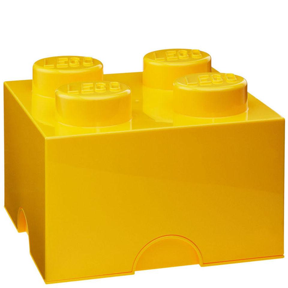 LEGO Storage Brick 4 Yellow IWOOT