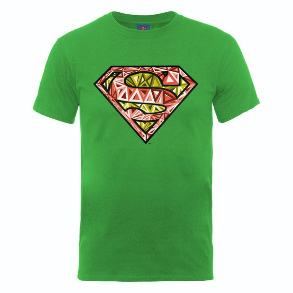 Dc Comics Men' T-shirt Superman Cells Logo - Kelly Green
