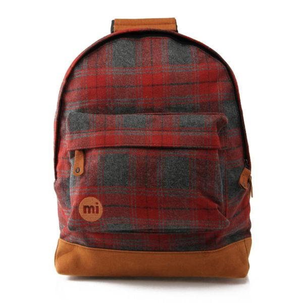Mi-pac Plaid Backpack - Red