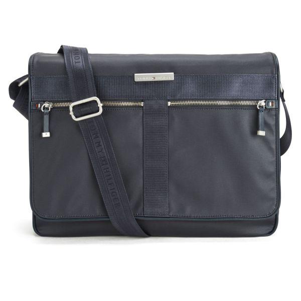 Tommy Hilfiger Men' Coated Canvas Darren Messenger Bag
