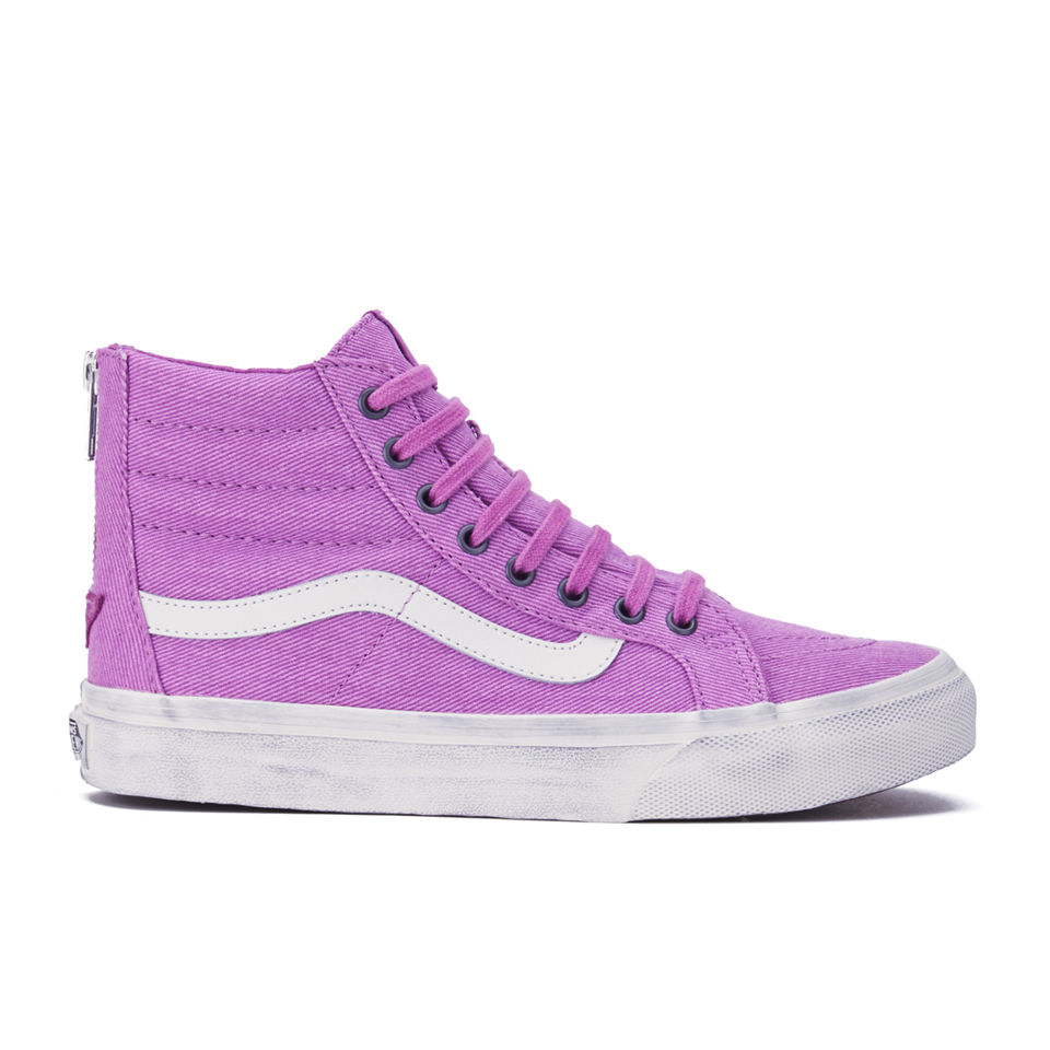 Vans Womens SK8Hi Slim Zip Overwashed HiTop Trainers