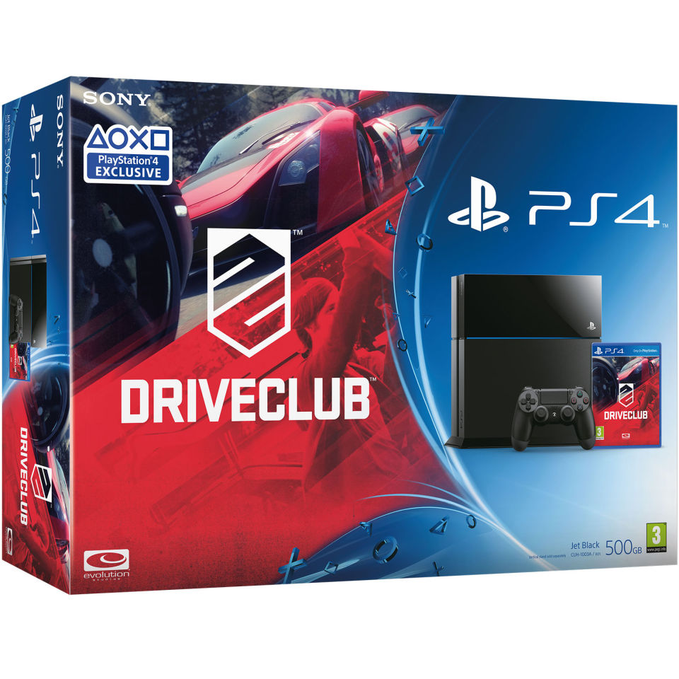 Sony PlayStation 4 500GB Console Includes DriveClub Games Consoles Zavvi