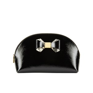 Ted Baker Women's Jenel Metallic Bow Dome Large Washbag - Black: Image 01