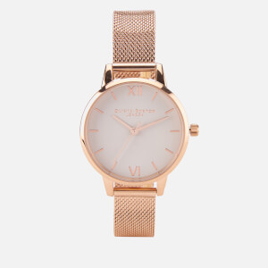 Rose Gold Mesh Bracelet Watch