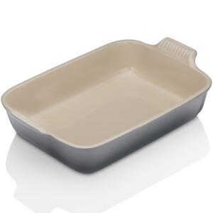 Le Creuset Stoneware Small Heritage Rectangular Roasting Dish - Flint