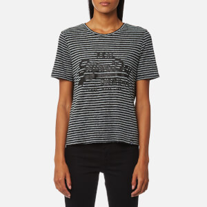 Superdry Women's Vintage Logo Boxy T-Shirt - Black/Grey