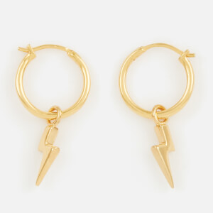 Missoma Women's Mini Lightning Charm Hoops - Gold