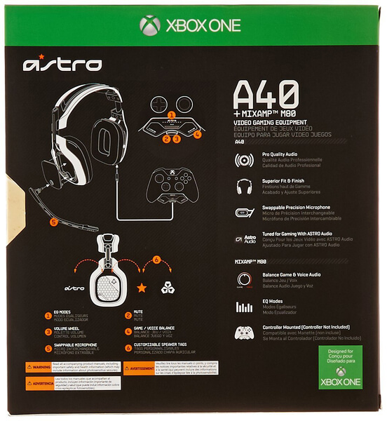ASTRO A40 Headset MixAmp Halo 5 Edition Black Xbox