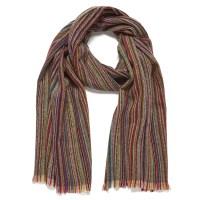 Paul Smith Accessories Men's Stripe Herringbone Scarf ...