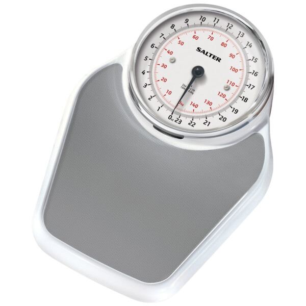 Salter Academy Mechanical Bathroom Scale  White Homeware