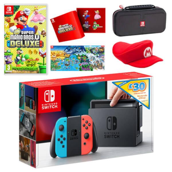 Nintendo Switch New Super Mario Bros. U Deluxe Pack + £30 eShop Credit   Nintendo Official UK Store