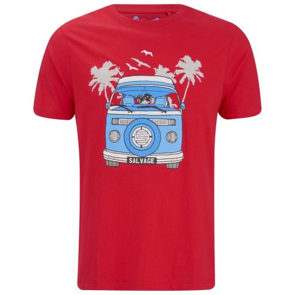 Salvage Men' Campervan T-shirt - Red Clothing Zavvi