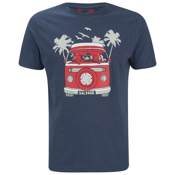 Salvage Men' Campervan T-shirt - Navy Clothing Zavvi