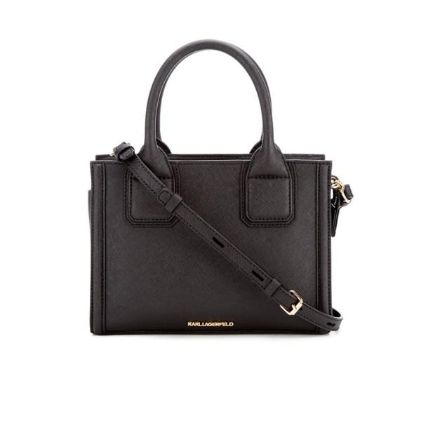 Karl Lagerfeld Women' Klassik Mini Tote Bag - Black