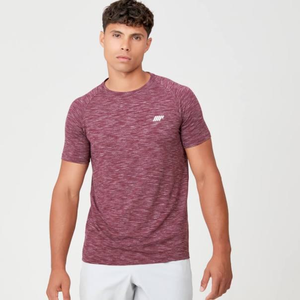 Camiseta de Rendimiento - M - Burgundy Marl