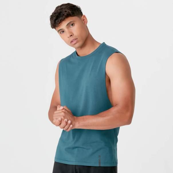 Camiseta de Tirantes Luxe - L - Petrol Blue