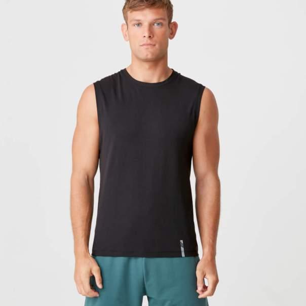Camiseta sin mangas clásica Luxe - L - Negro
