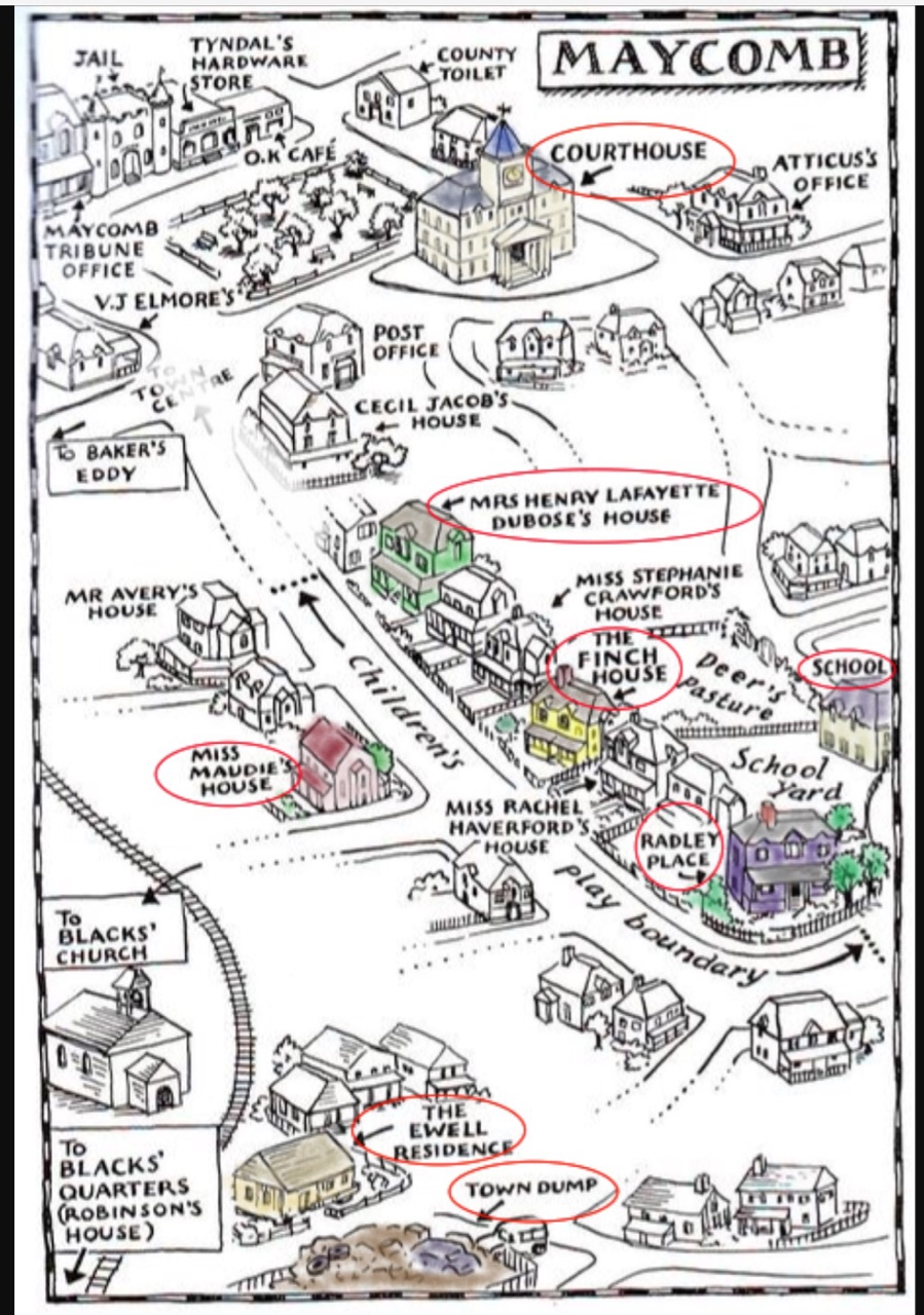To Kill A Mockingbird Map Of Maycomb : mockingbird, maycomb, Maycomb, Mockingbird, Maping, Resources