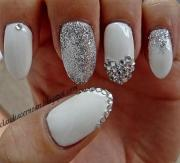 wedding nail design - bling #2057091