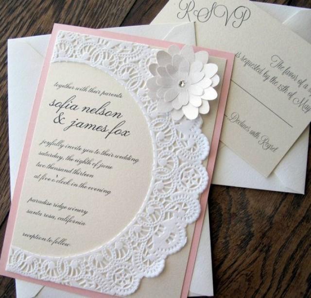 Diy Vintage Laser Cut Wedding Invitation Print
