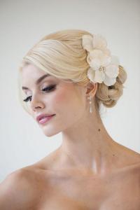 Bridal Flower Hair Clips, Wedding Hair Accessory ...