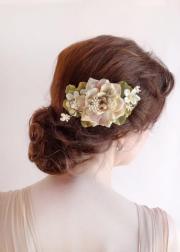 blush wedding - hairpiece
