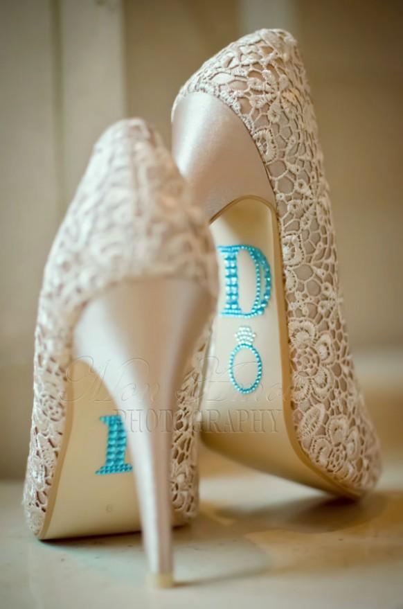 I Do Wedding Shoe Rhinestone Applique  Unique Wedding Shoes 803728  Weddbook
