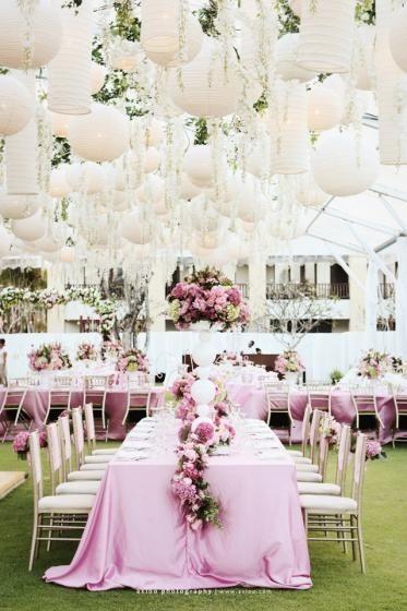 Pink Garden Hochzeit Dekoration  Chinese White Paper