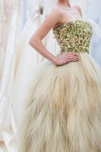 A Wedding Gown Made With Real Flowers,seeds And Leaves ...