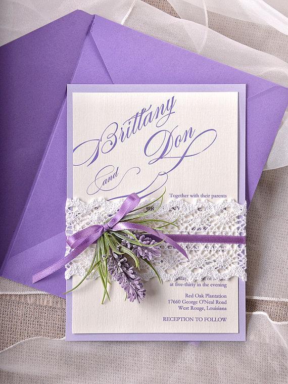Lavender Wedding Invitations
