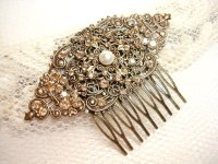 Vintage Bridal Hair Comb - Wedding Hair Comb #2226861 ...