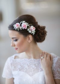 Pink Wedding - Flower Bridal Hair Accessories #2228563 ...