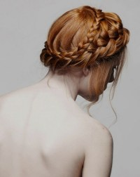 Country and rustic wedding hairstyle