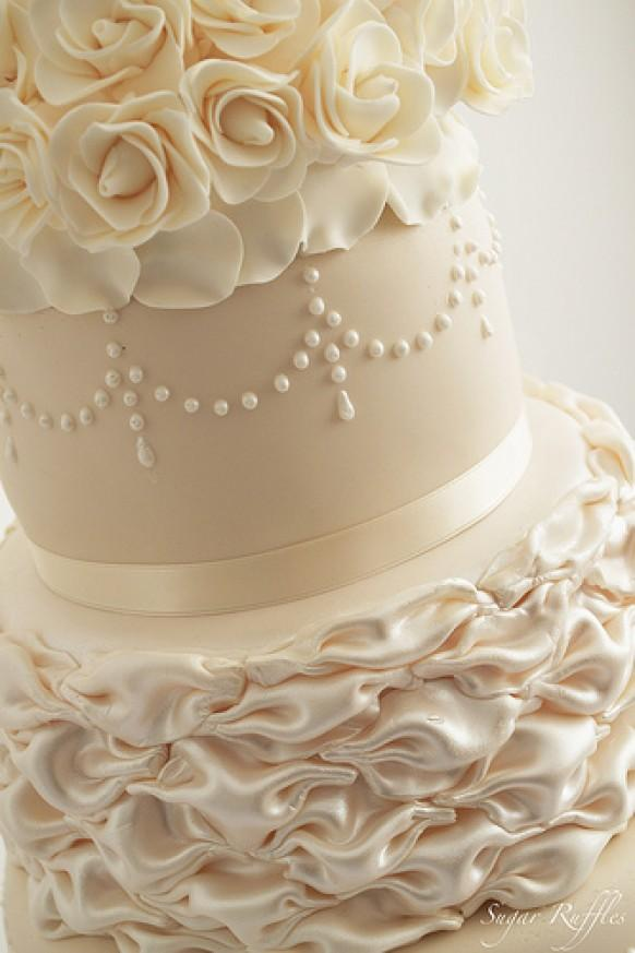Ivory Wedding  Ivory  Champagne Wedding Cake 1987580