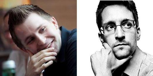 @maxschrems y Edward @Snowden en sus perfiles de Twitter