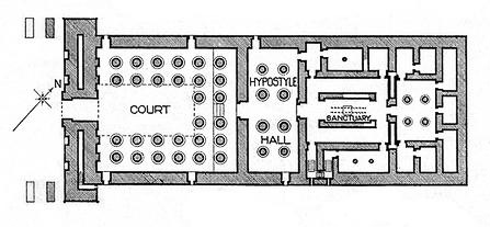 Khonsu Temple Floor Plan