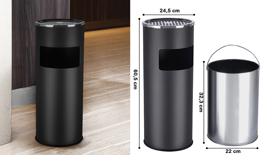 Songmics stainless steel ashtray trash waste rubbish Pedal Bin Garbage Can LTB  eBay