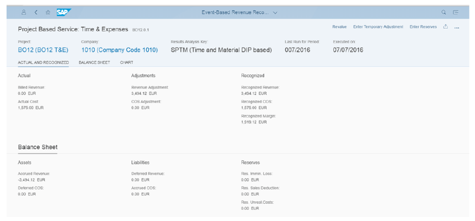 S/4HANA Event Based Revenue Recognition app
