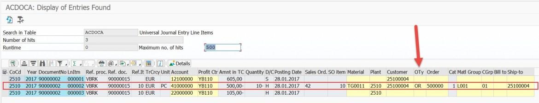 ACDOCA with Attributed Profitability Segments