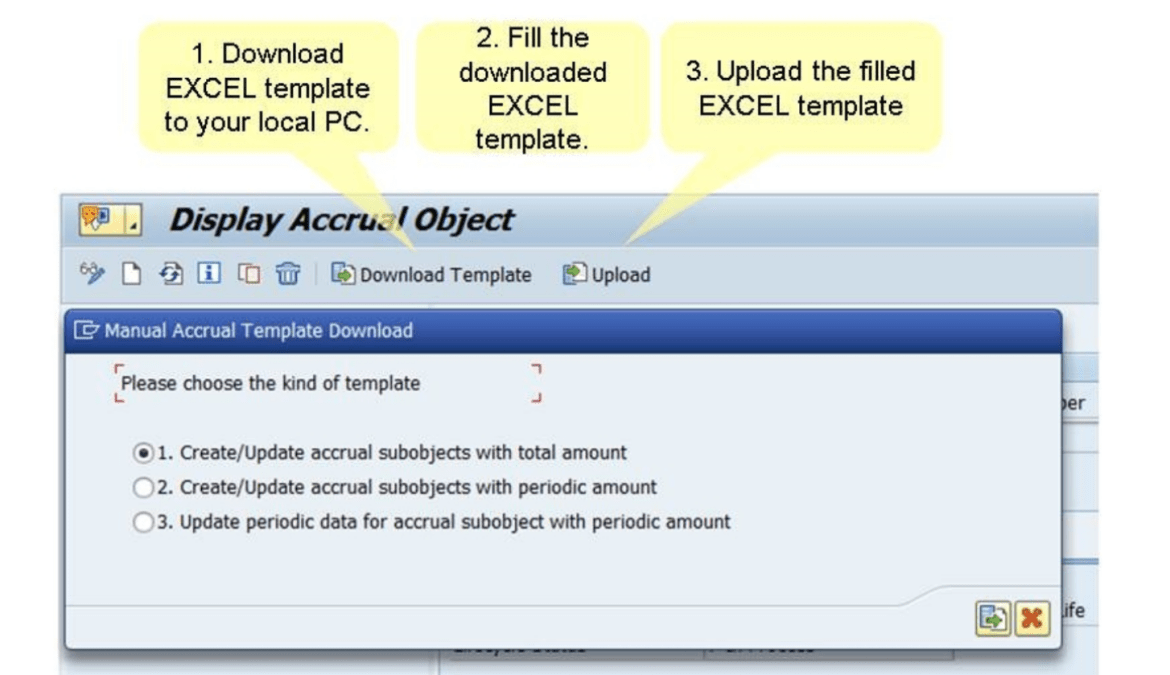 Accrual Management excel upload