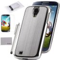 Pandamimi ULAK Luxury Silver Hard Case Cover for Galaxy S4