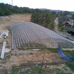 Baja Ringan Lengkung Rangka Atap Tuk Gedung Futsal Oerleebook S Situs