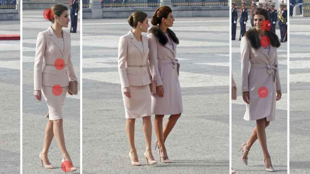 Letizia y Juliana Awada en el Palacio Real