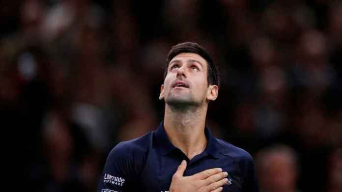 Djokovic, during the final of the 1000 Masters in Paris