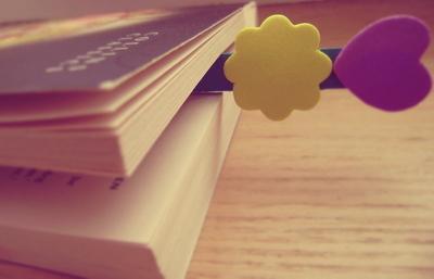 heart, bookmark, book
