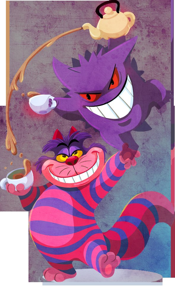 Image result for cheshire cat gengar
