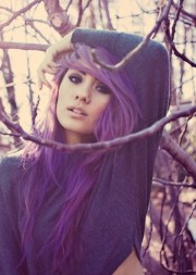 girl hair pretty purple